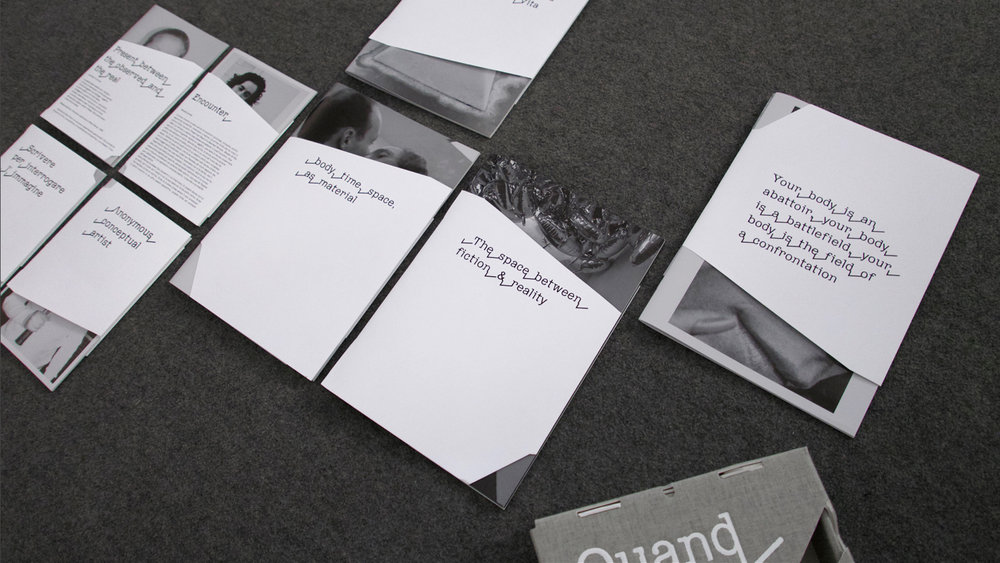 Quand fondra la neige Où Ira le blanc, 2016. Book design and image of the exhibition, Palazzo Fortuny