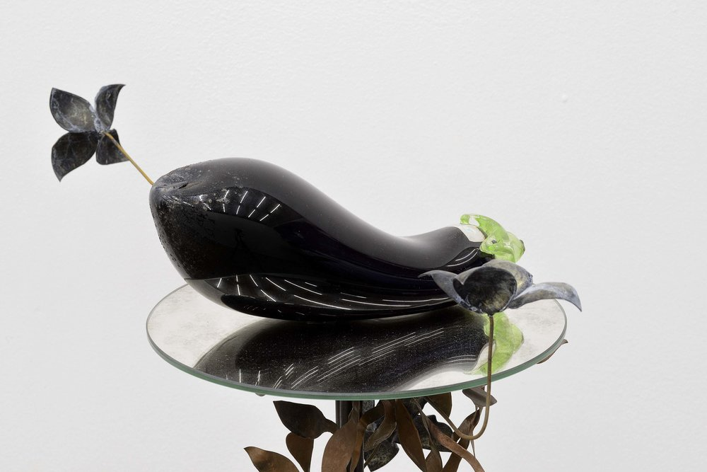 Sexual Feeling, 2016, Iron, Cobber, Hydrochloric Acid, Antique Mirror and Handblown Glass, 83 x 51 x 48 cm, Photo by Roberto Apa, Courtesy of Frutta, Rome