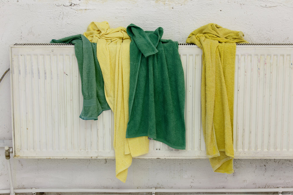 4 towels for Club Papucho, exhibition view, non+ULTRA, Cluj-Napoca, 2016