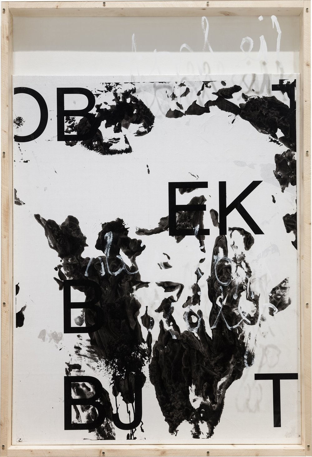 Senza titolo , 2015, inkjet-print on paper, acrylic, lacquer, wood, canvas, 146,5 x 99 cm, Courtesy the artist