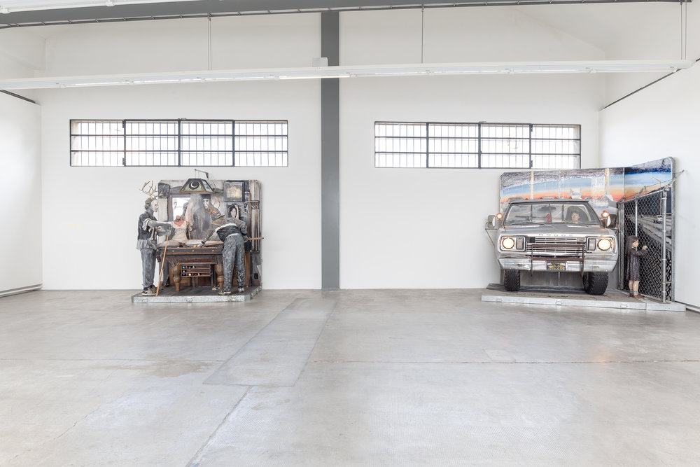 All the images: Five Car Stud, 1969-72. View of the exhibition curated by Germano Celant, Fondazione Prada Milan. Photo Attilio Maranzano, Courtesy Fondazione Prada.