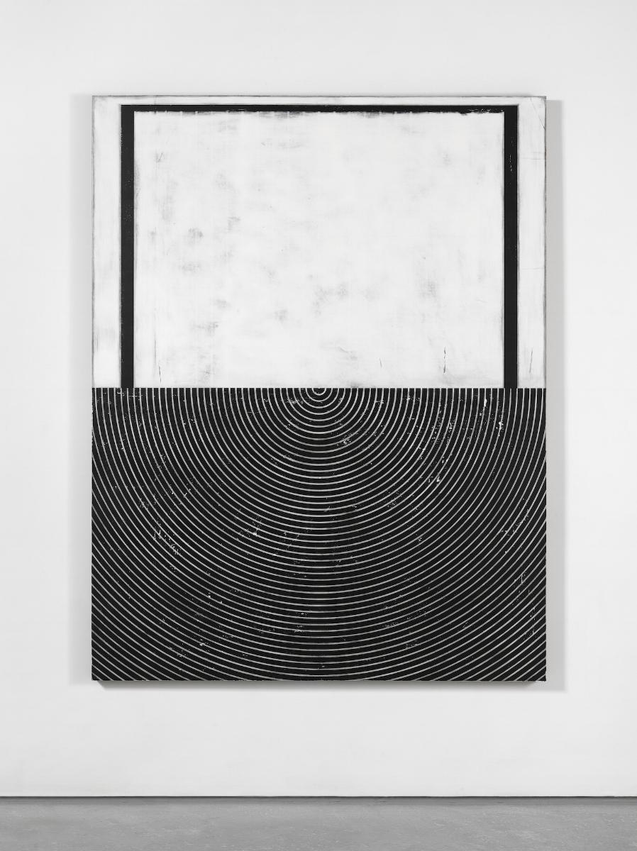 UNTITLED , 2016. Plaster, gesso & lacquer on wood 72 x 56 inches
