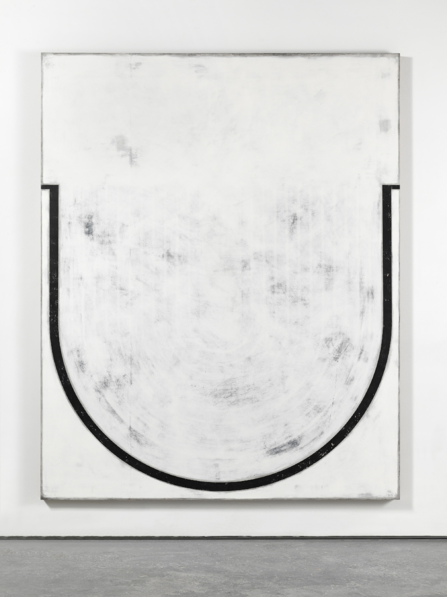 UNTITLED , 2016. Plaster, gesso & lacquer on wood 80 x 64 inches