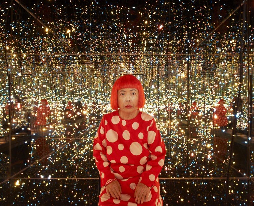 Yayoi Kusama, 2012, Color photograph, 16 x 20 inches