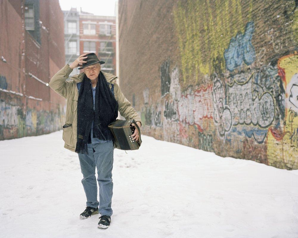 Jonas Mekas, 2003, Color photograph, 16 x 20 inches
