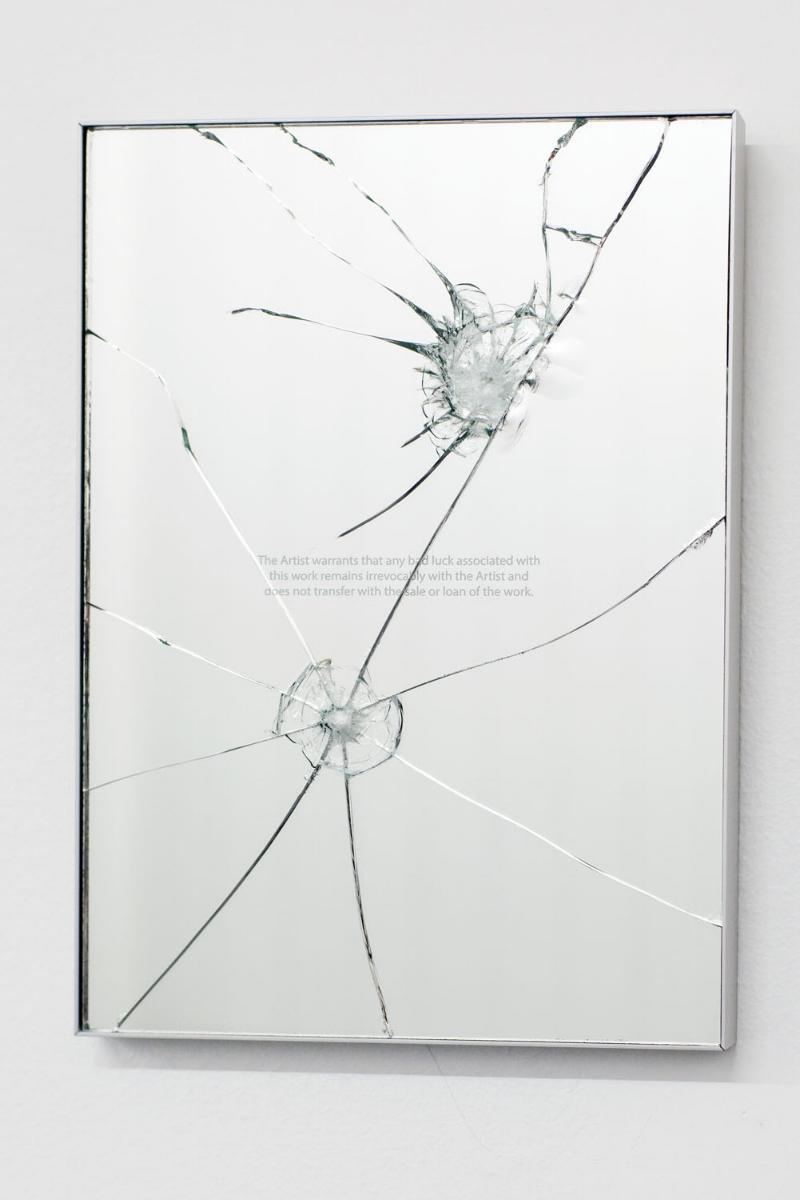 2023 (December), 2016, Etched broken mirror (limited series of 5 unique works) 21 x 30 x 2cm