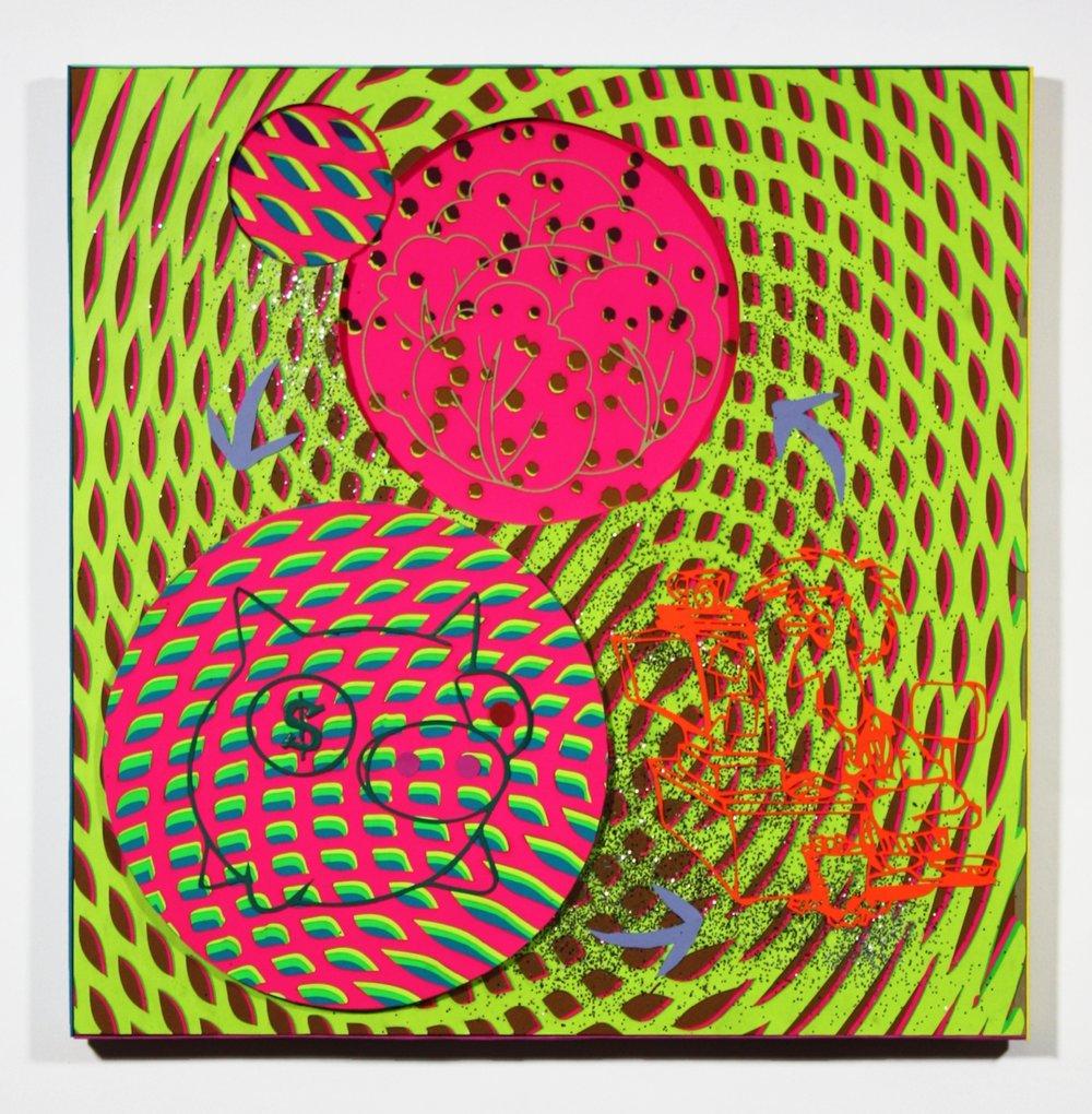 David Burrows, Cyber spell loop cabbage admin piggy bank, 2017