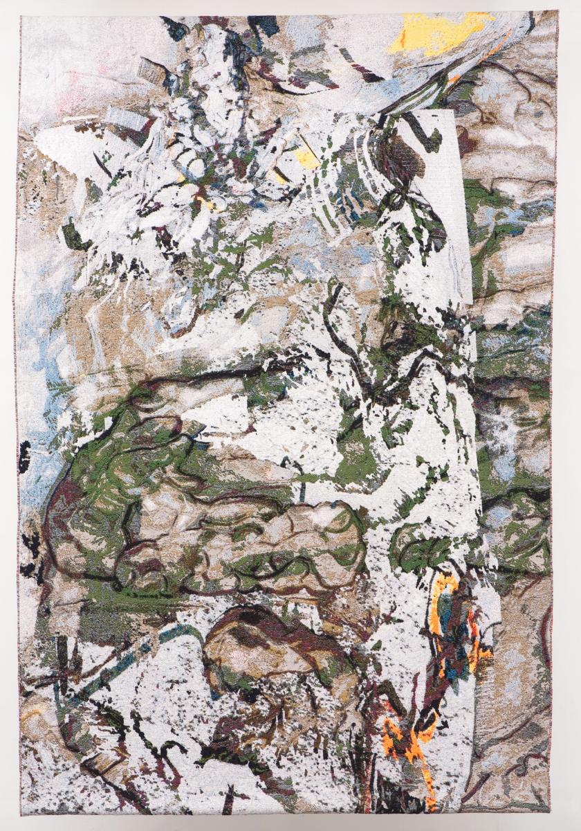 Jaoui, cotton woven jacquard tapestry, Mieke van Schaijk,230 x 160 cm
