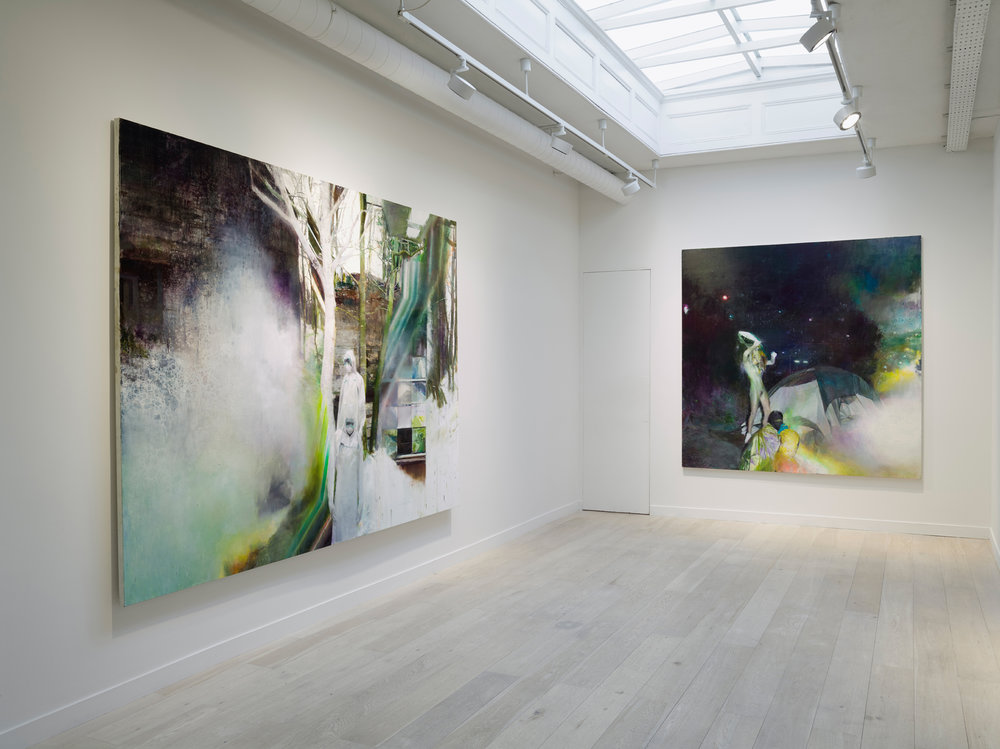 Justin Mortimer, It is Here, installation view,  Courtesy Parafin, London. Photo Peter Mallet.