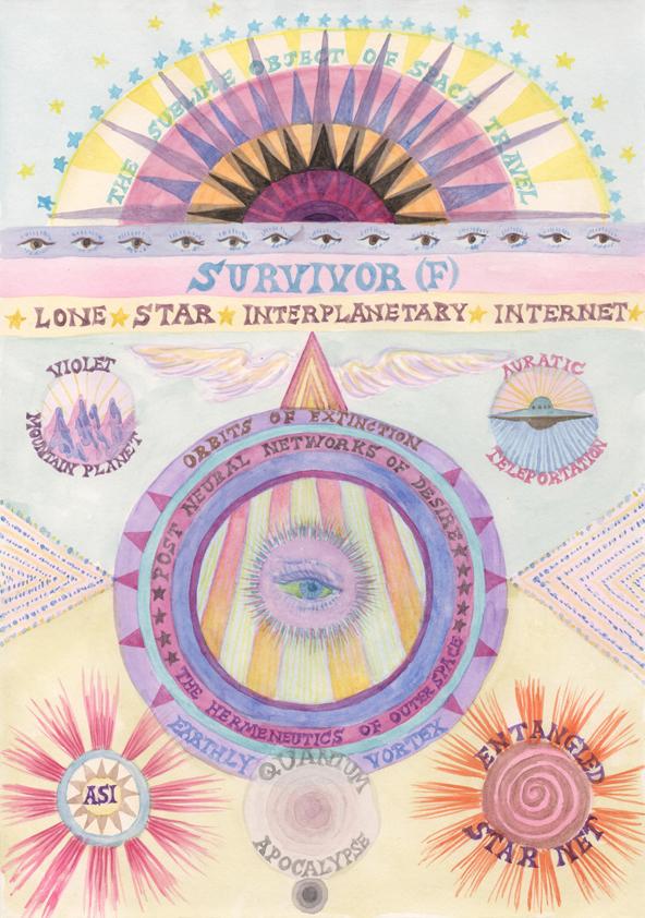 SURVIVOR (F)/Lone Star. Giclée print on Hahnemuhle paper, 21 x 29.7 cm 2016-17