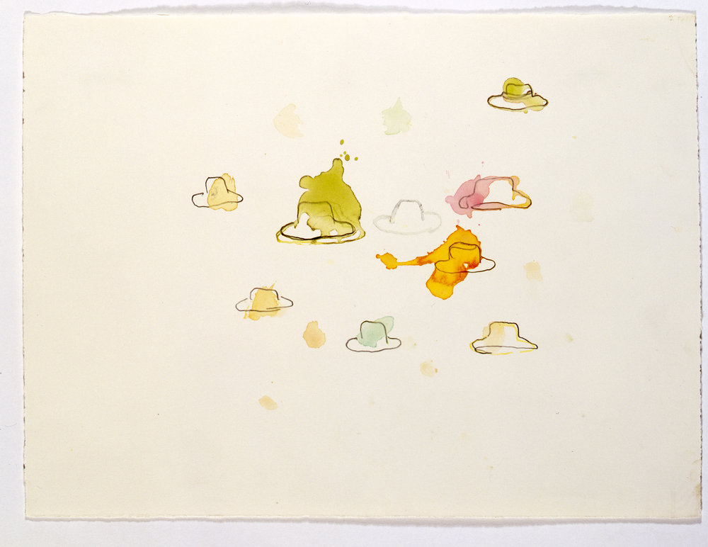 LUCIA NOGUEIRA, Untitled, n.d, watercolour on paper. Courtesy Anthony Reynolds Gallery