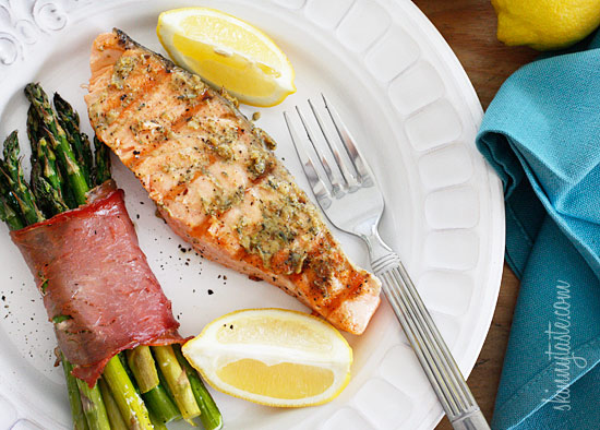 notanotherhealthyfoodblog: Grilled Garlic Dijon Herb Salmon click here for recipe