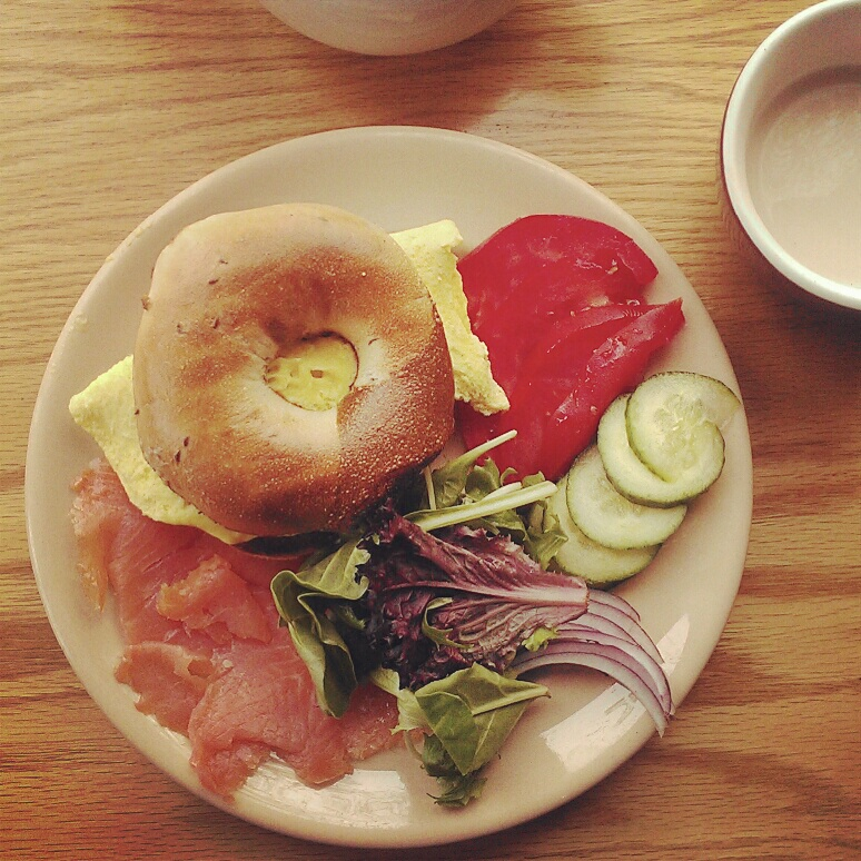 Lox plate with egg instead of cream cheese