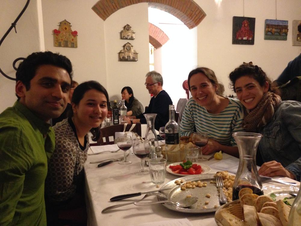 Dinner at Casalinga near Santo Spirito Church. With one epic Tiramisu...