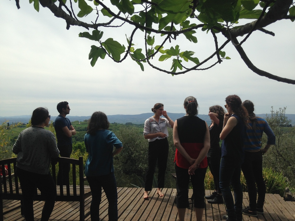 Tour of the grounds and Tuscan vistas