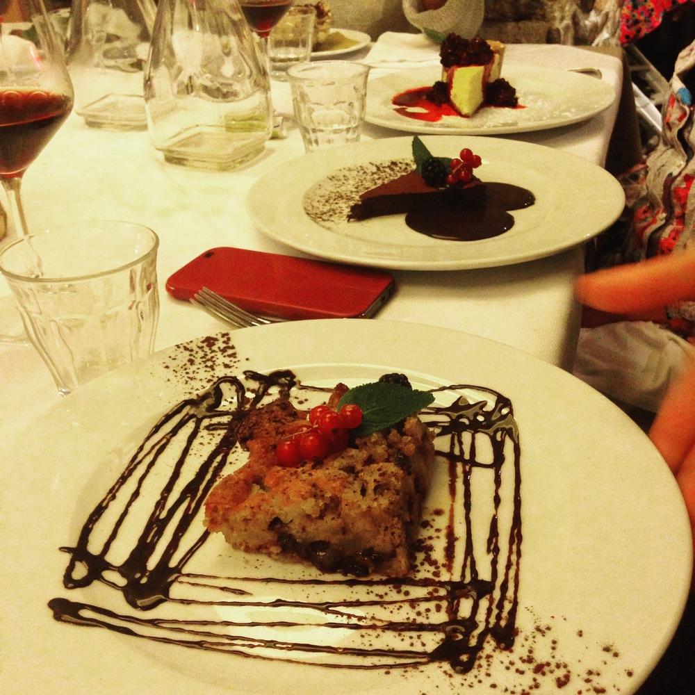 Last desserts at Quatro Leoni!