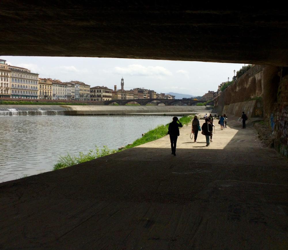 Under the Ponte Trinita bridge. Photo Credit: Sandrine Delattre
