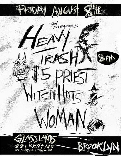 Heavy Trash / Five Dollar Priest / Witch Hats / WOMAN
