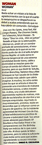 woman,lp,review,ruta 66 magazine,bang! records