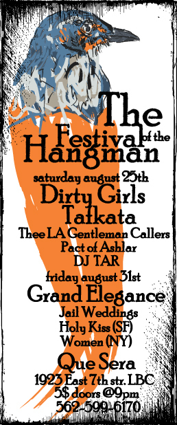WOMAN NYC THE GRAND ELEGANCE JAIL WEDDINGS HOLY KISS FESTIVAL OF THE HANGMAN QUE SERA LONG BEACH CALIFORNIA