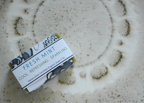 Fresh Mint Herbal Soap on Gunpowder Art