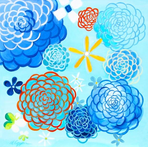 Blue Day Dahlias