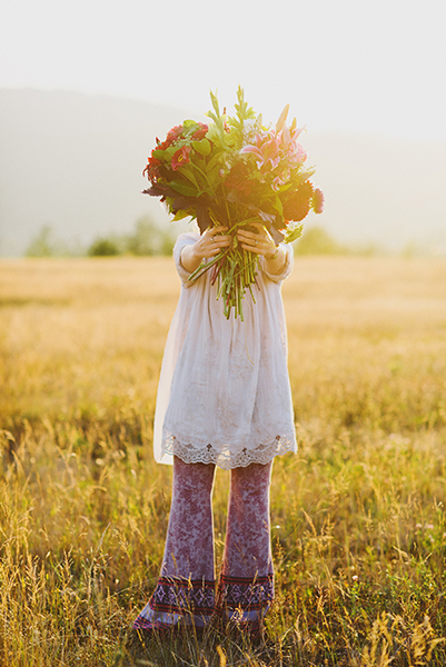 The Child In Flowers