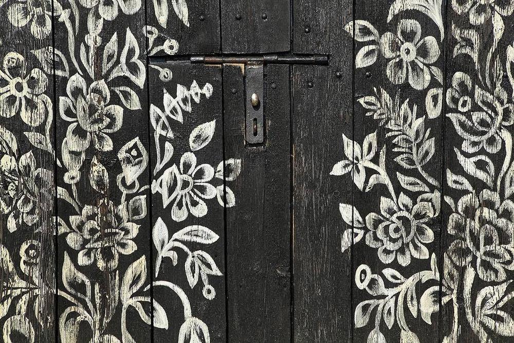 Floral Folk painting, Zalapie, Poland
