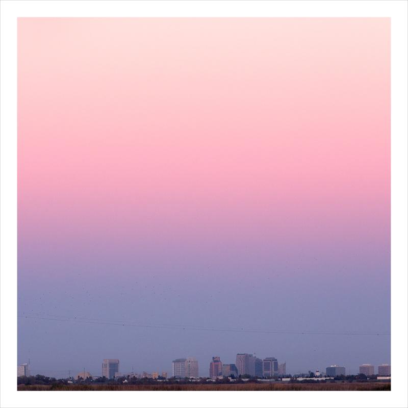 pink skyline, Sacramento