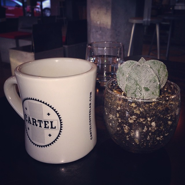 How we start everyday. ☀️ (at Cartel Coffee Lab)