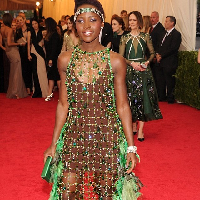 Thank you thank you @lupitanyongo my holiday '14 collection is emerald resin focus (at Met Gala)