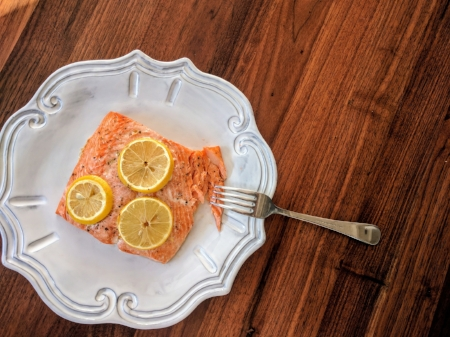 Salmon with Lemon and Olive Oil