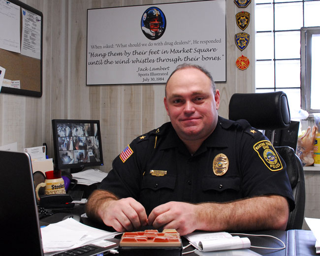 Chief John McFarland, commander of the Belmont County Drug Task Force, is concerned about how the influx of heroin is affecting Ohio Valley families and on a mission to cut the supply and access of opiates and educate children about the danger of addiction.