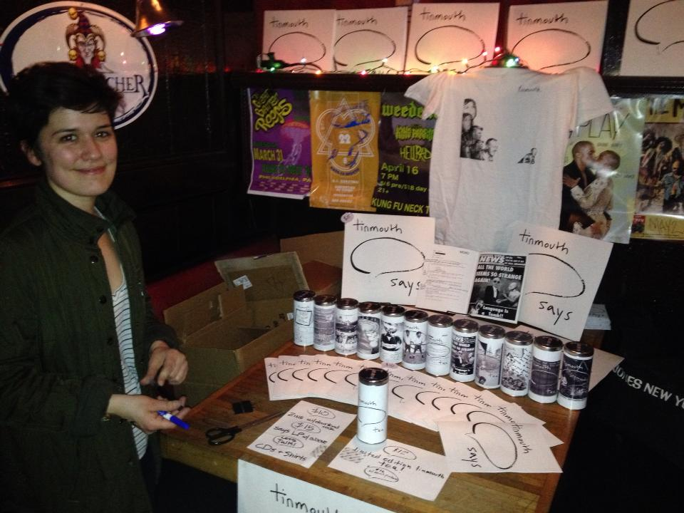 Merch Table at Record Release
