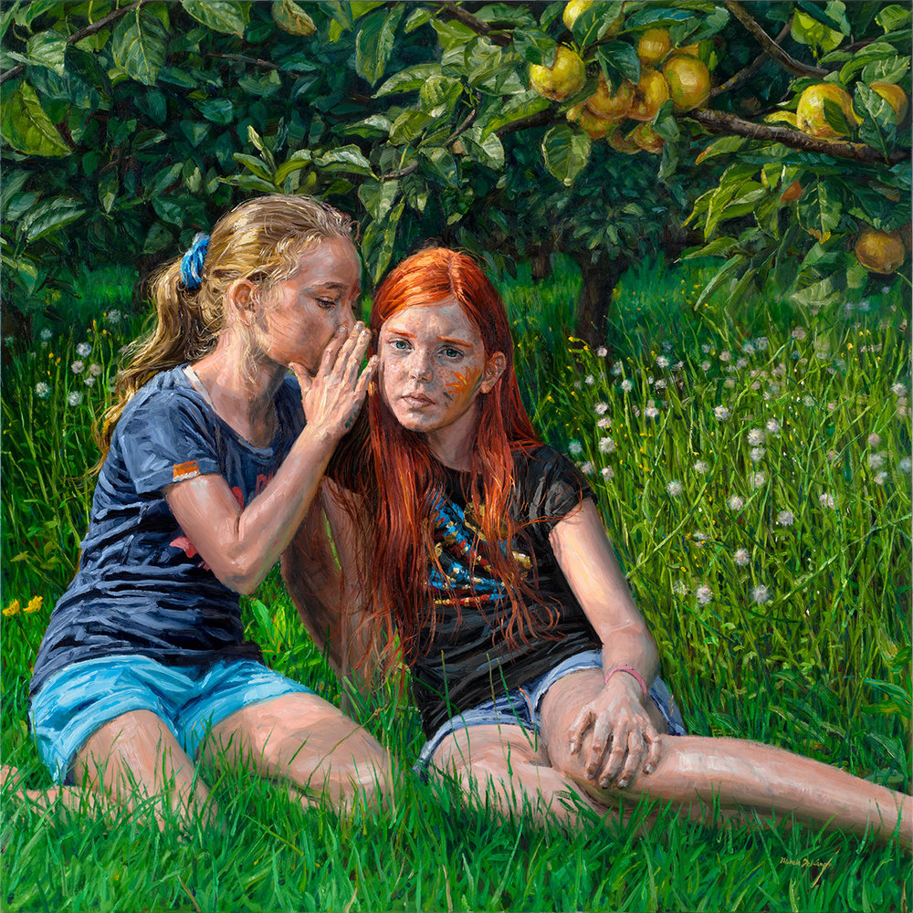 apple-tree-redhead-blonde-girls-young-friends-121x121cm.jpg