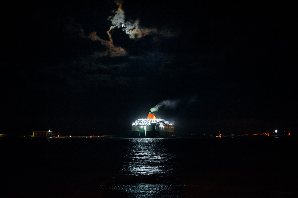The daily evening ferry takes hundreds of refugees from the island of Khios to Athens on the Greek mainland. From there refugees and migrants will make their journey by land through the Balkans and on to Northern Europe. Oct 1, 2015.