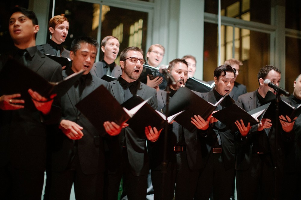 The ECMC singing in Carnegie Hall's newly refurbished   Resnick Education Wing   at the   Wedding of Gustavo Souza and Alvin Luk   on Saturday, November 15, 2014.