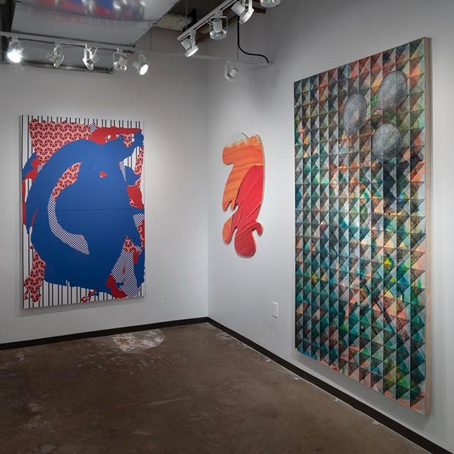 Visit us at the Dallas Art Fair on the first floor Booth F8. Saturday 11-7, Sunday 12-6. Pictured here L to R: #ZekeWilliams #KevinTodora #FranciscoMoreno @dallasartfair