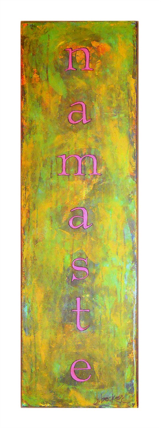 namaste  48x12  acrylic on canvas