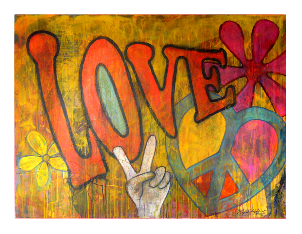 love  36x48  acrylic on canvas
