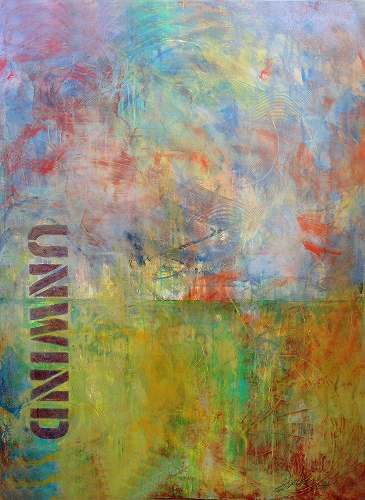 unwind  48x36  acrylic on canvas