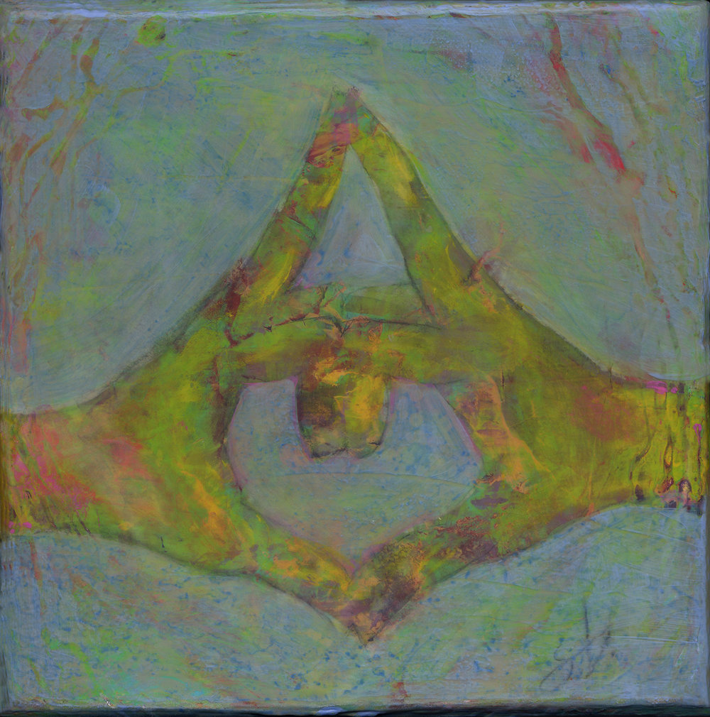 kalesvara mudra 8x8 acrylic on wood [28]
