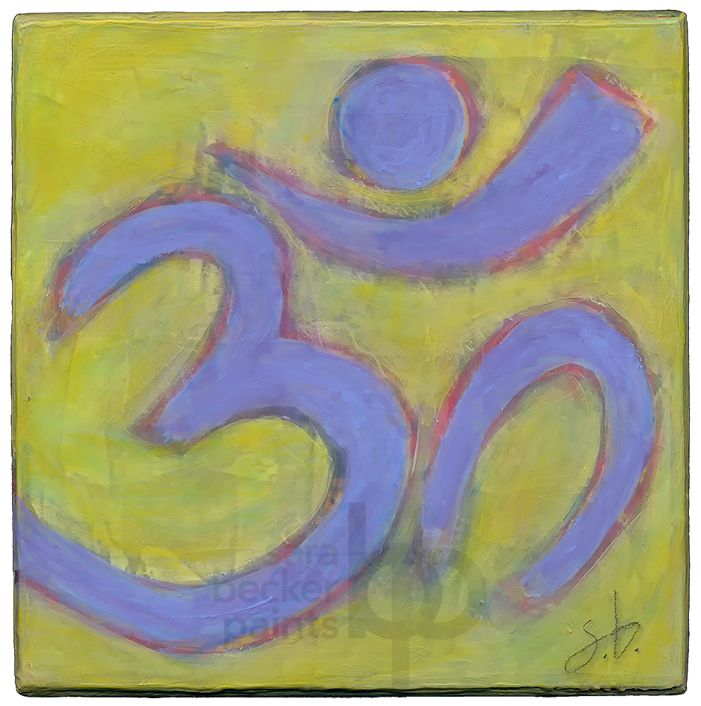 aum {purple} v2. 8x8 acrylic on wood [12]