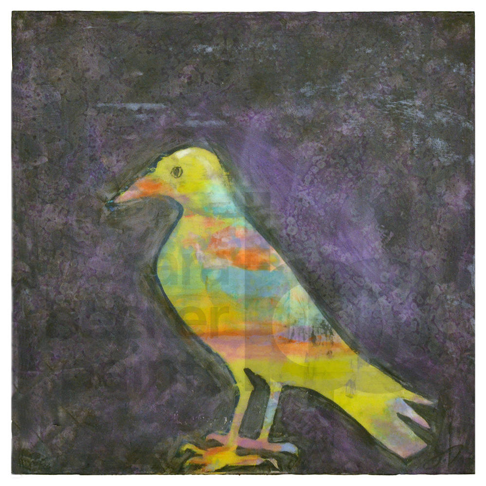 crow [purple] 10x10 acrylic on wood [20]