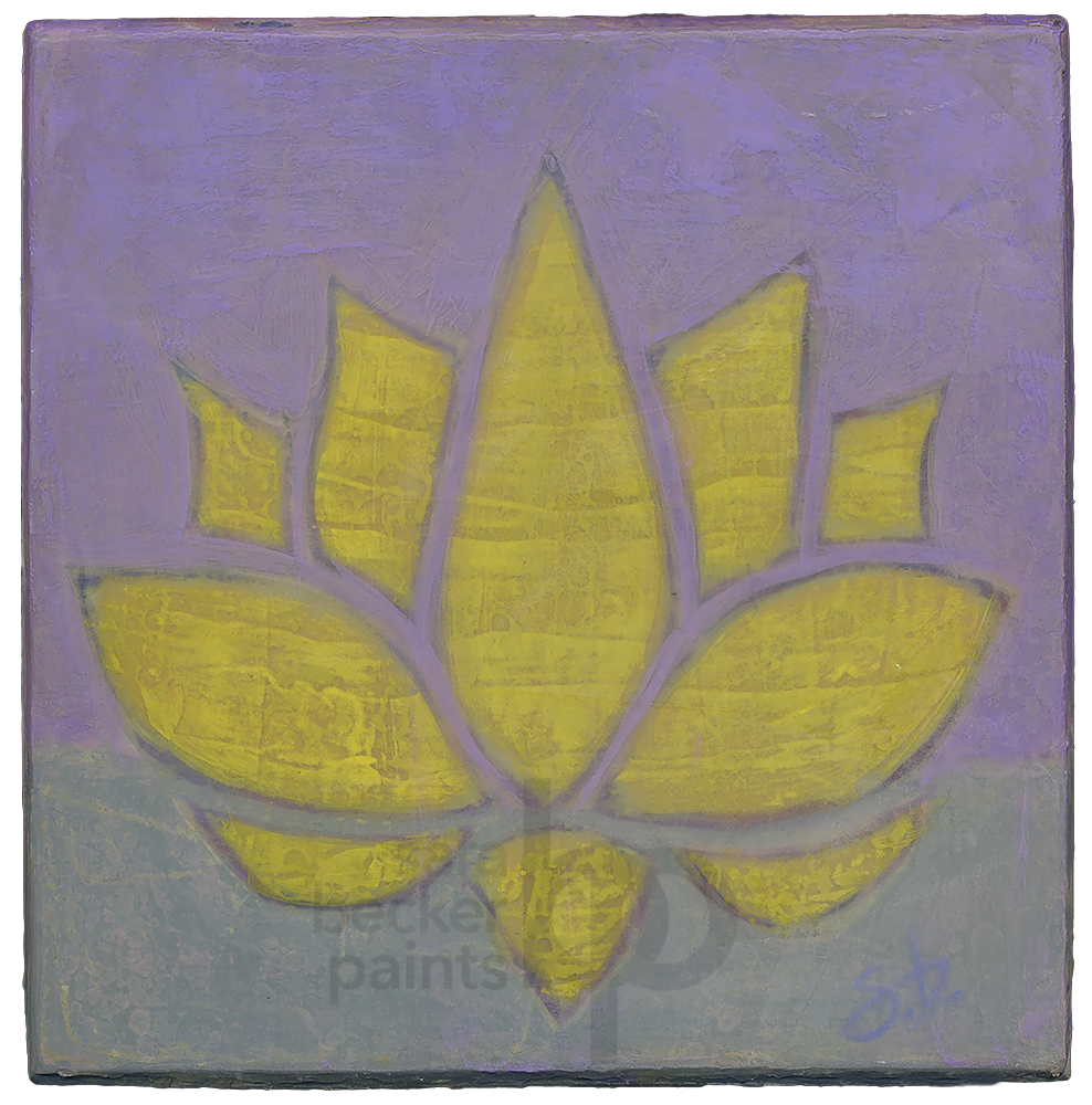 lotus {v4} 8x8 acrylic on wood [4]
