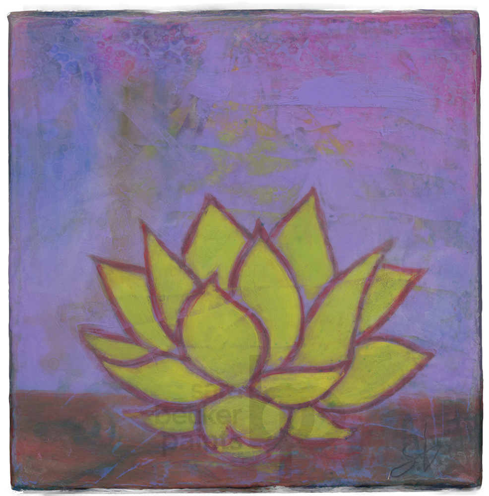 lotus {v7} 8x8 acrylic on wood [7]