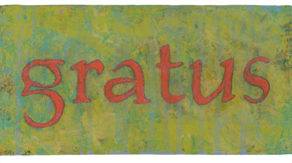 gratus {grateful} 6x12 acrylic on wood [49]