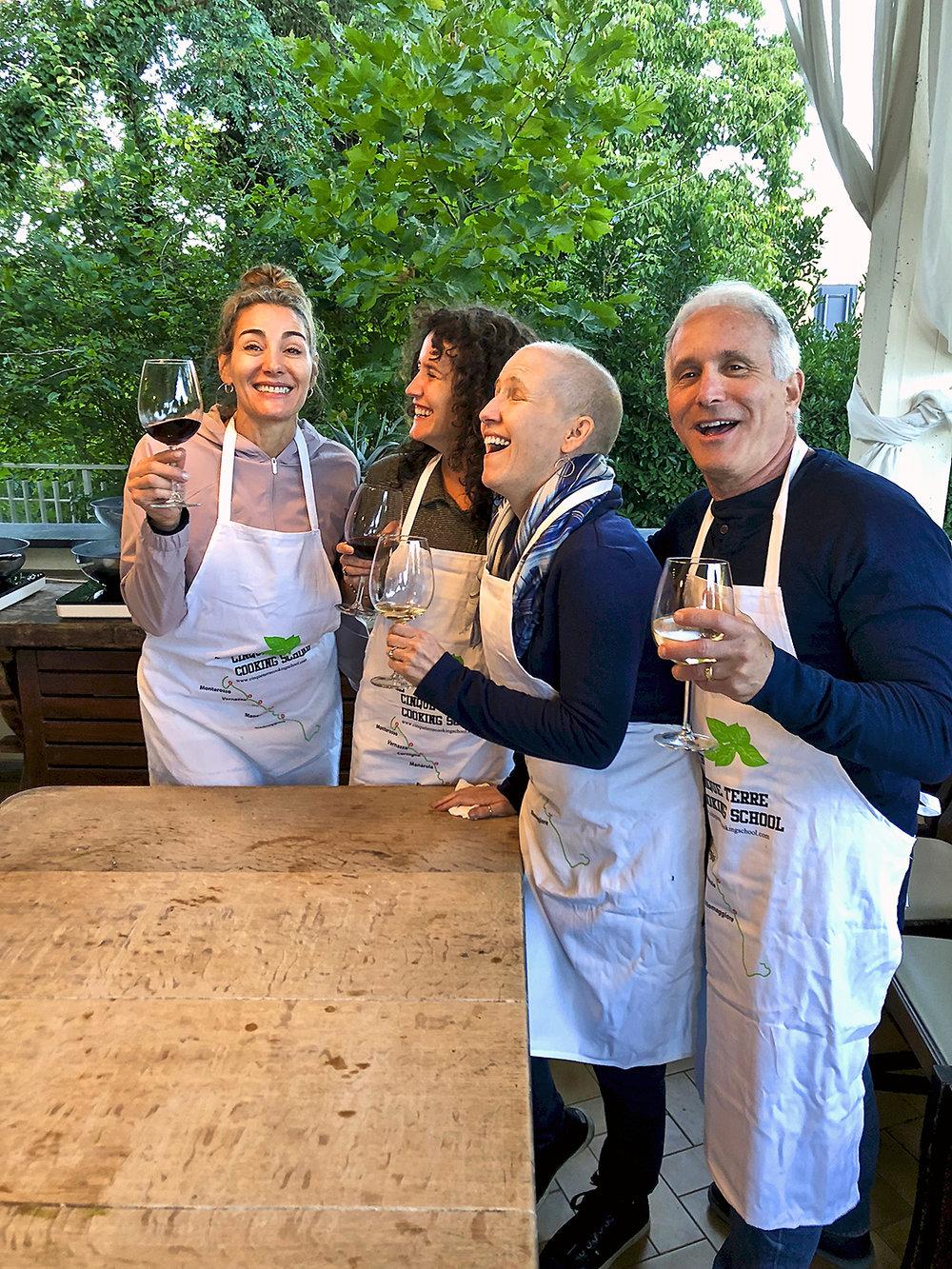 2018 ITALY_cinque terre_monterossa_pesto_lisa dana sara dave laughing.jpg