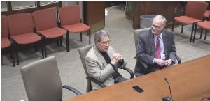 State Representative Jay Kaufman, State Senator Michael Barrett, and State Senator Cindy Friedman