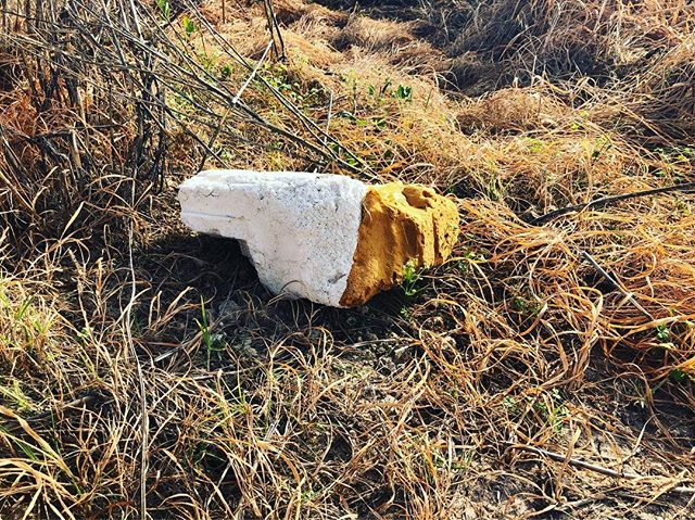 Found sculpture in natural environment 💡🗿📍#foundsculture #texture #colour #aboutlooking